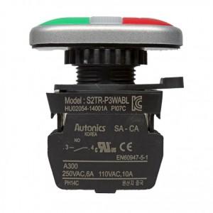 استارت استوپ دوبل چراغ دار آتونیکس 220V(مدل S2TR-P3WABL)
