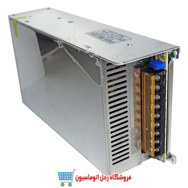 منبع تغذیه سوئیچنگ فن دار 12ولت 40 آمپر(مدل P-500-12)